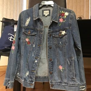 Jackets & Blazers - Embroidered Jean Jacket